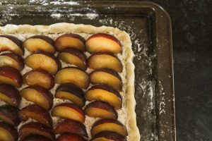 Rustic Plum Tart before it goes in the oven