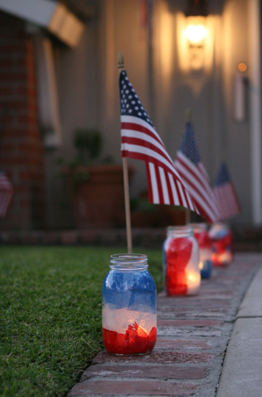 Howe We Live Diy Patriotic Mason Jar Luminaries Howe We Live