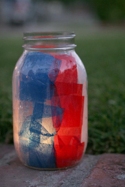 Howe We Live Diy Patriotic Mason Jar Luminaries Howe We Live
