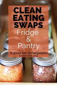 Clean Eating Swapping Guide Pinterest Image