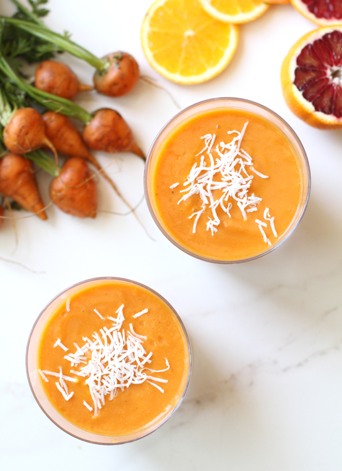 Carrot and Orange Power Smoothies