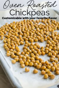 Oven Roasted Chickpeas Snack Pin Image
