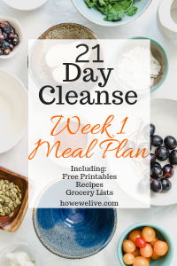 21 Day Cleanse meal plan week 1 pinterest image