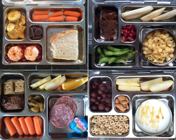 Rover lunch box filled with kids food