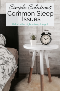 Simple Solutions for Common Sleep Issues Pin Image