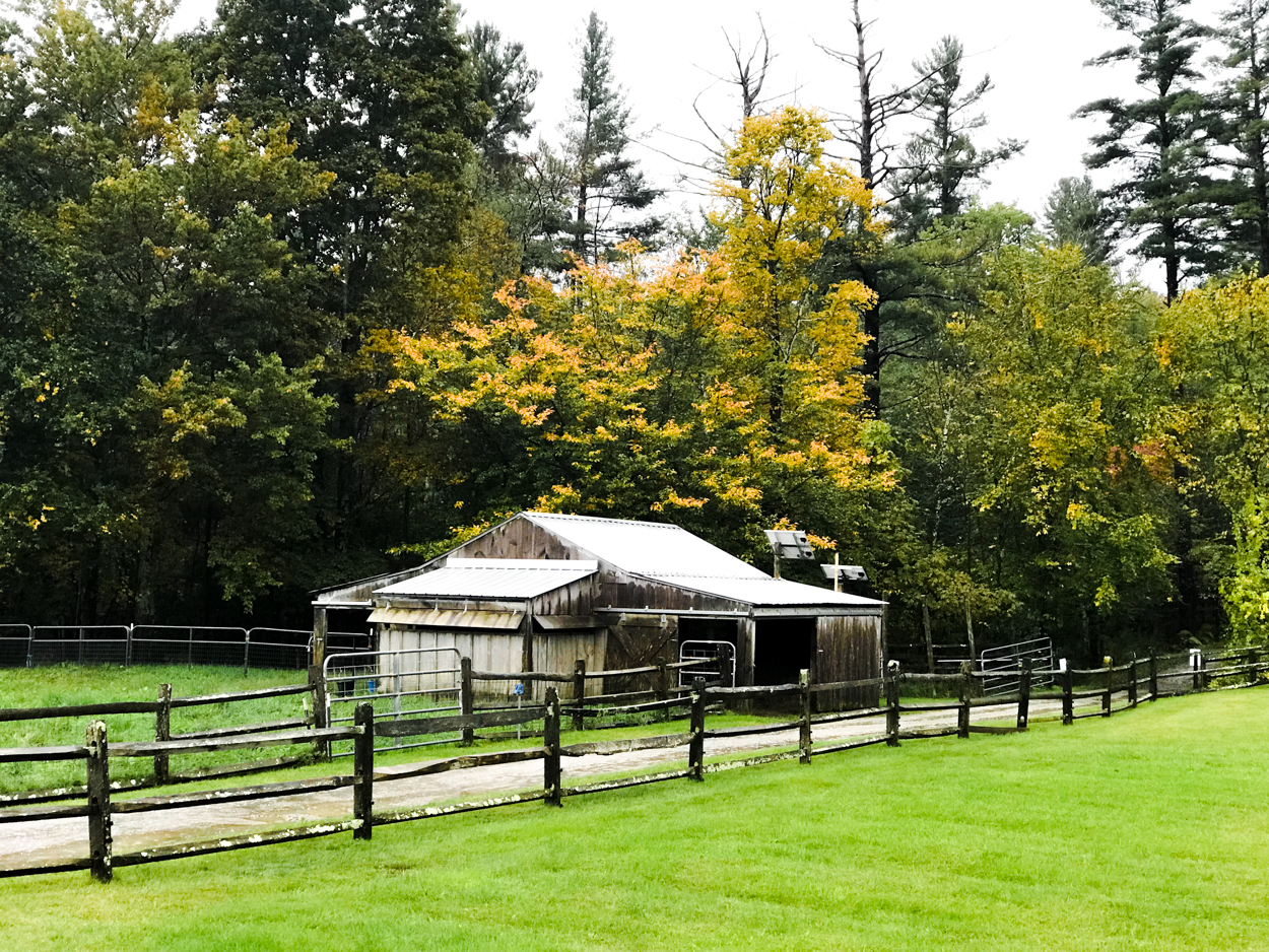 Goat farm barn at Hildene in Manchester Vermont
