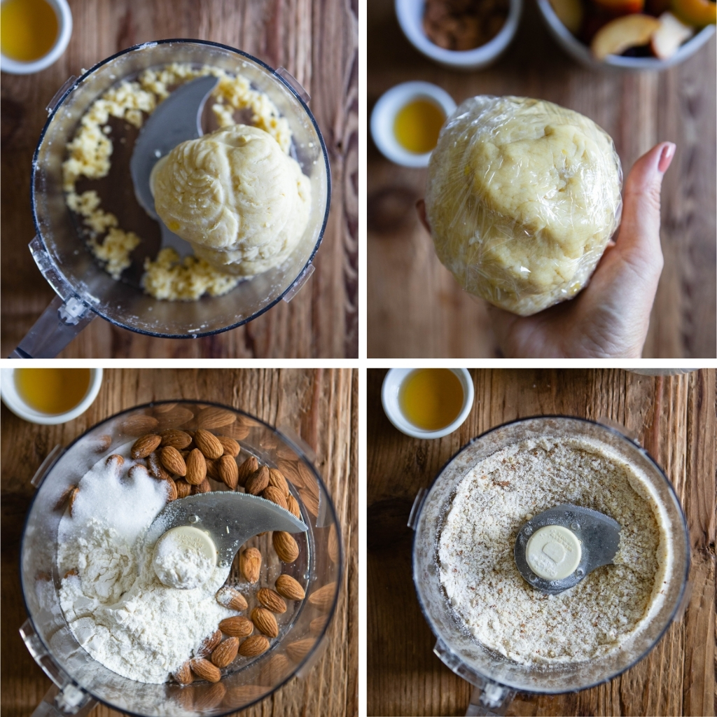 step by step guide making a plum tart dough and filling