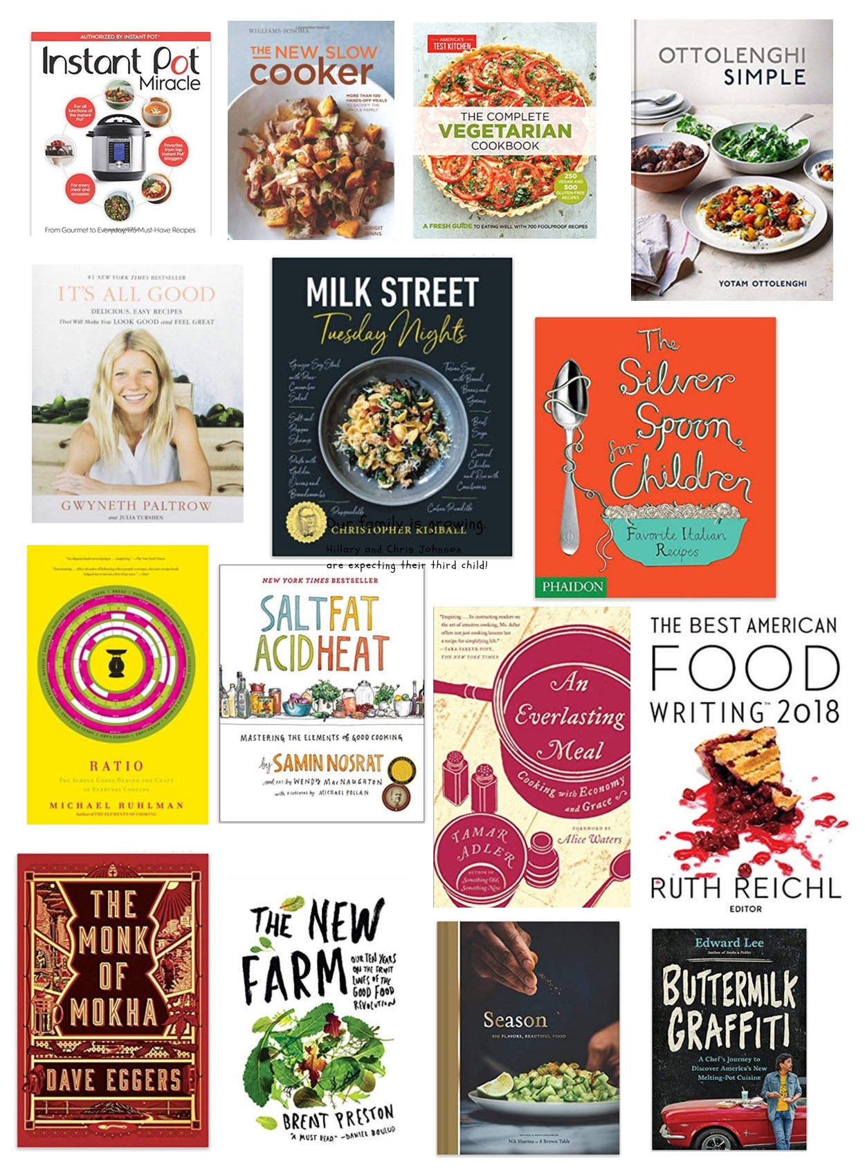 Books on food and cookbooks