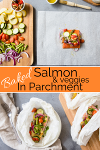 Baked Salmon in Parchment Pin Image