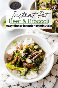 Instant Pot Beef and Broccoli Pin Image