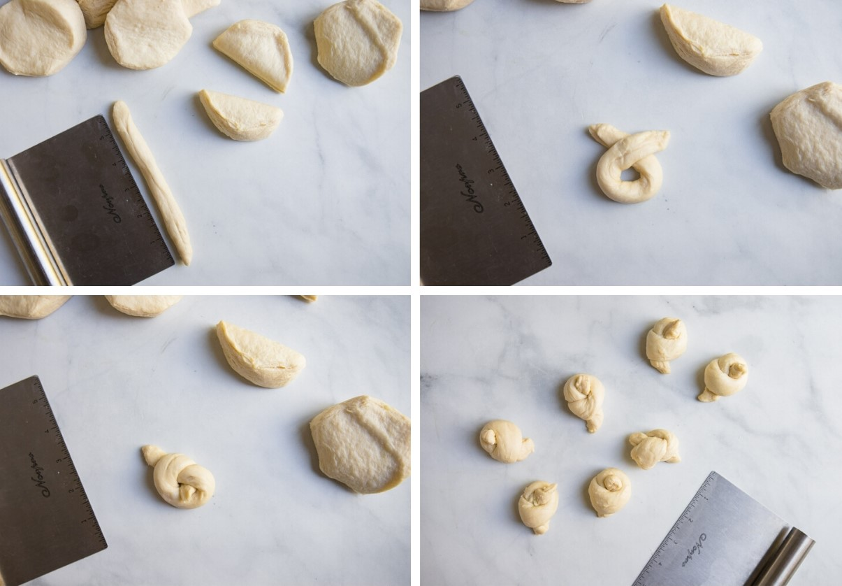 biscuit dough on marble surface