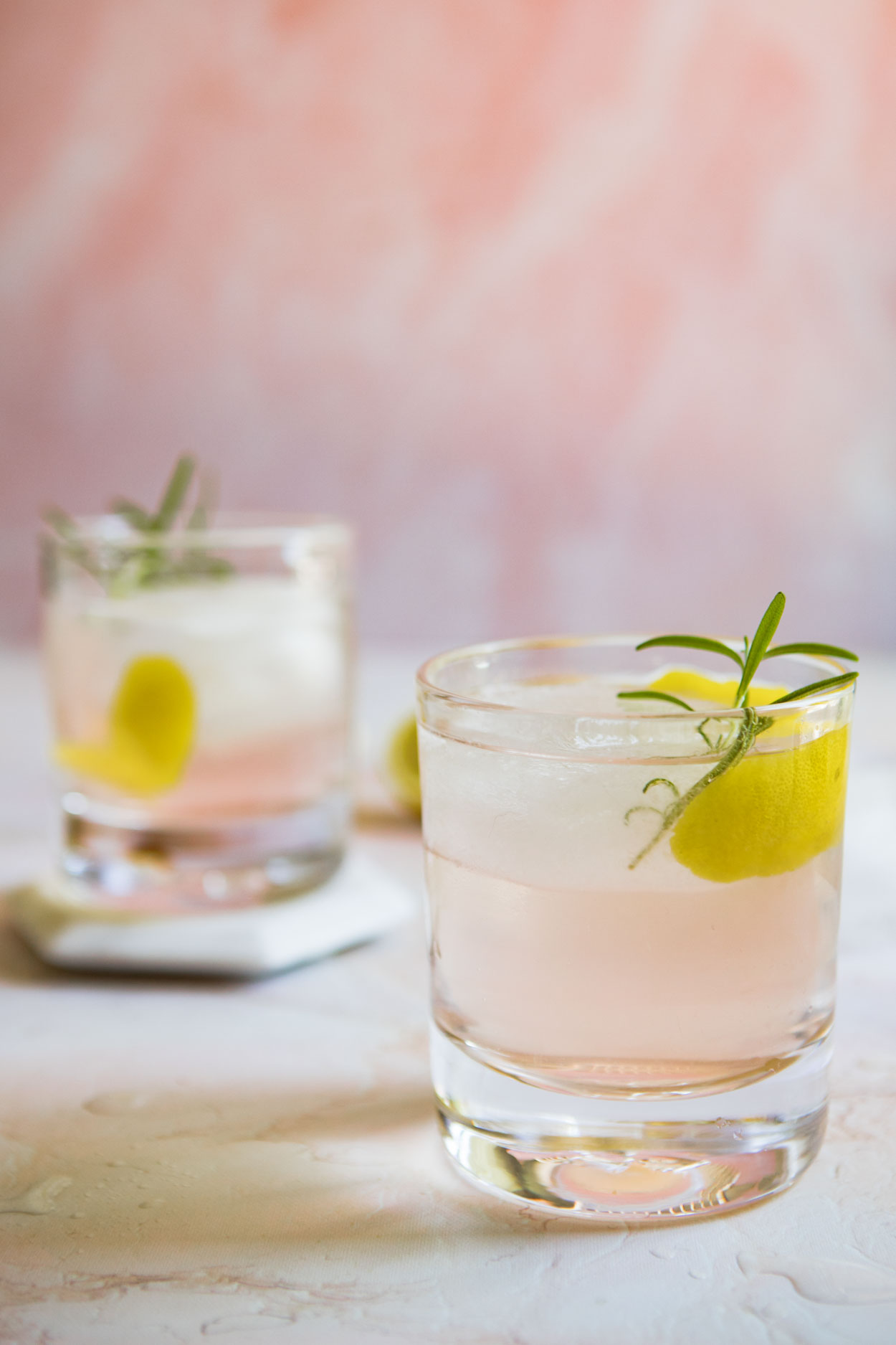two gin grapefruit cocktails