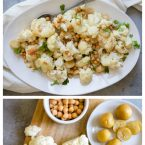 roasted cauliflower with tahini