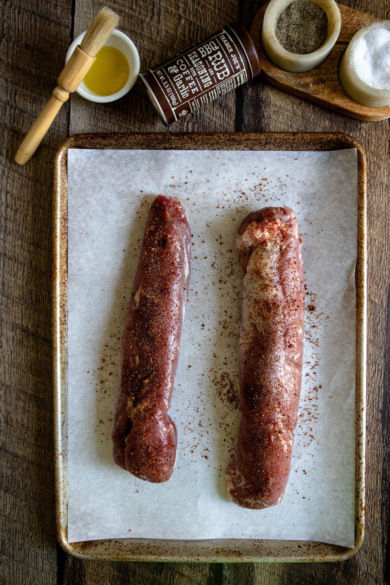 ingredients for grilled pork tenderloin