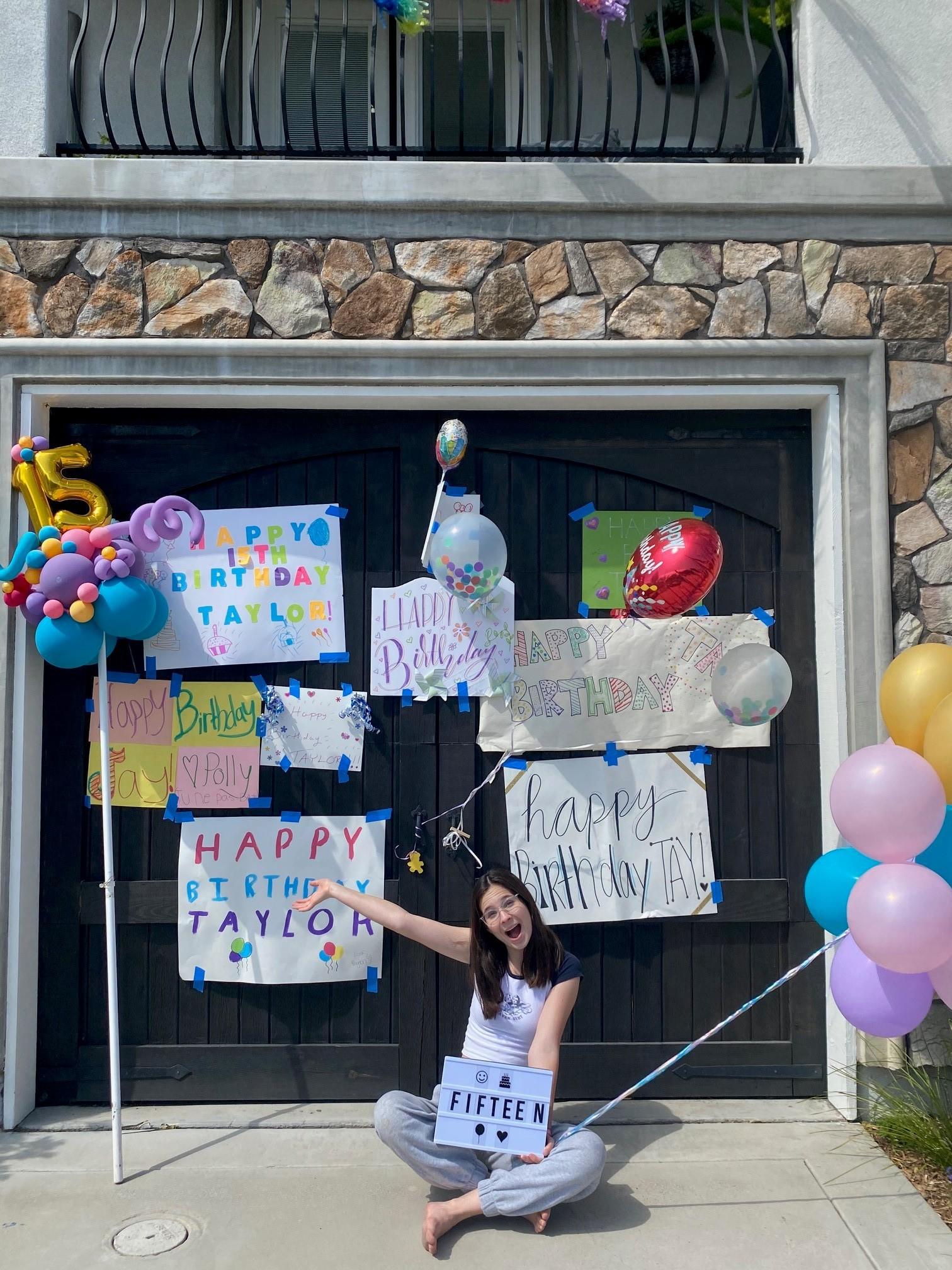 girl celebrating her 15th birthday