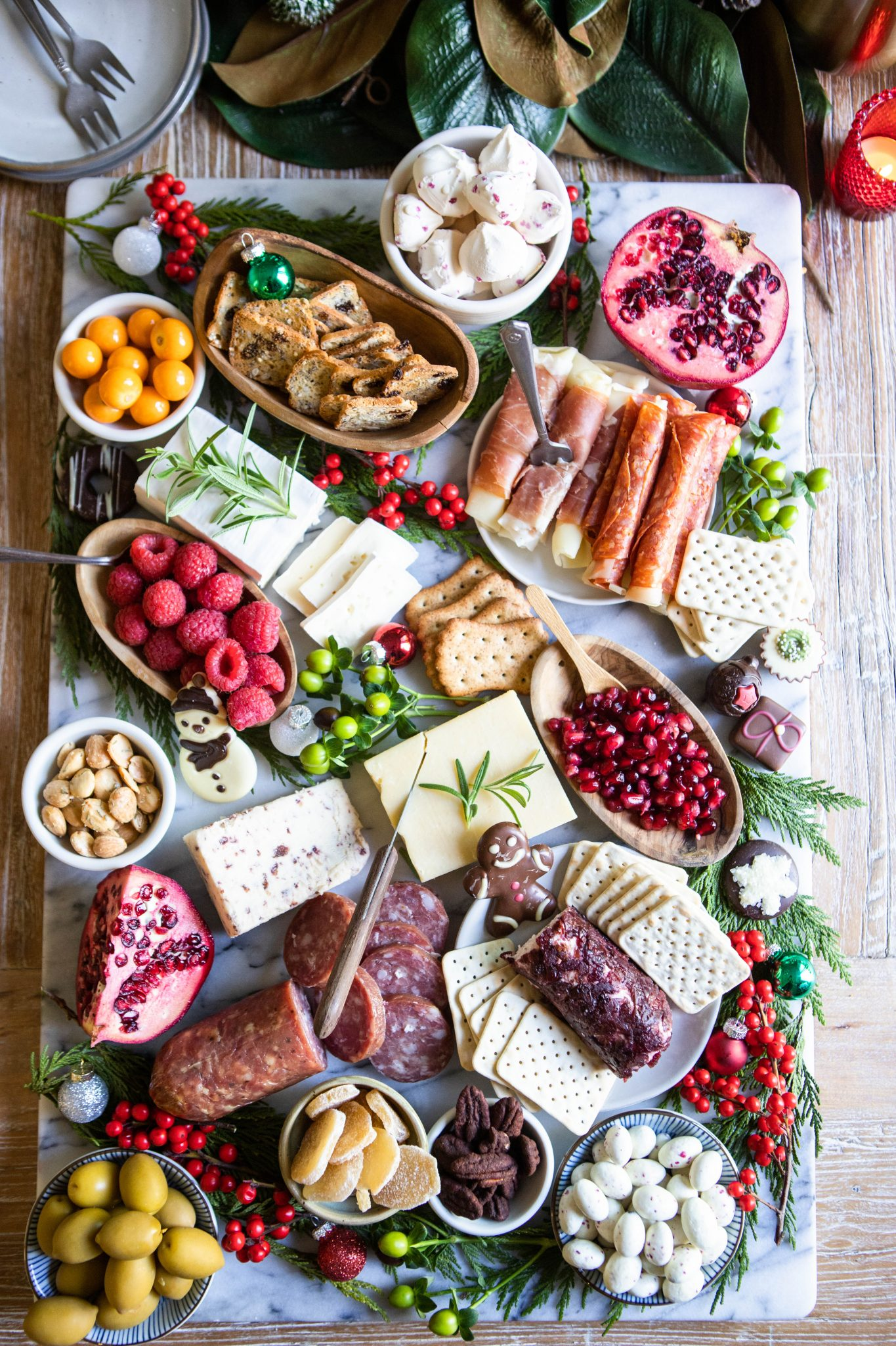 Christmas inspired charcuterie board