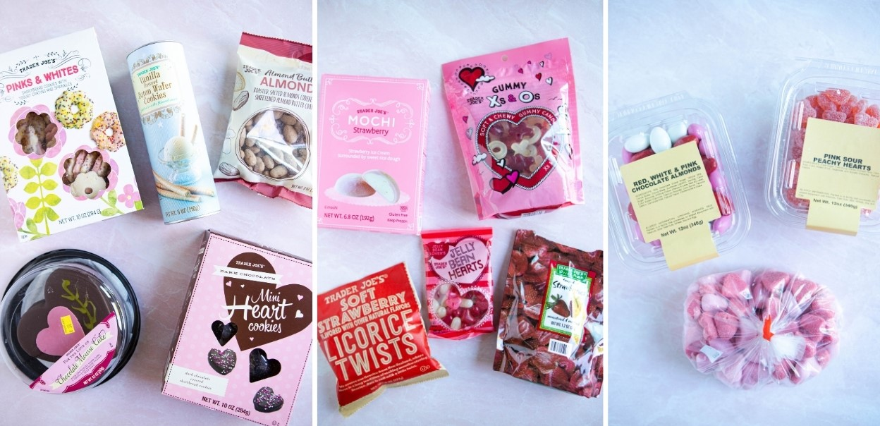 desserts from Trader Joe's for Valentine's Day