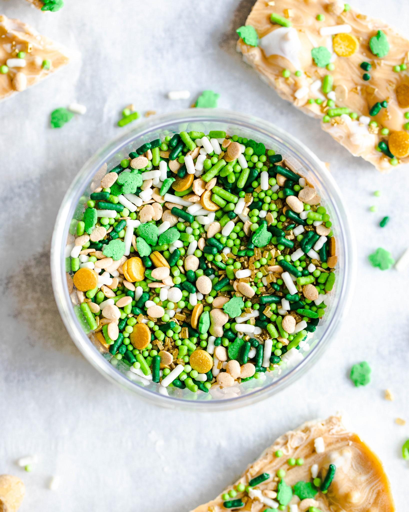 Green St. Patrick's Day sprinkles